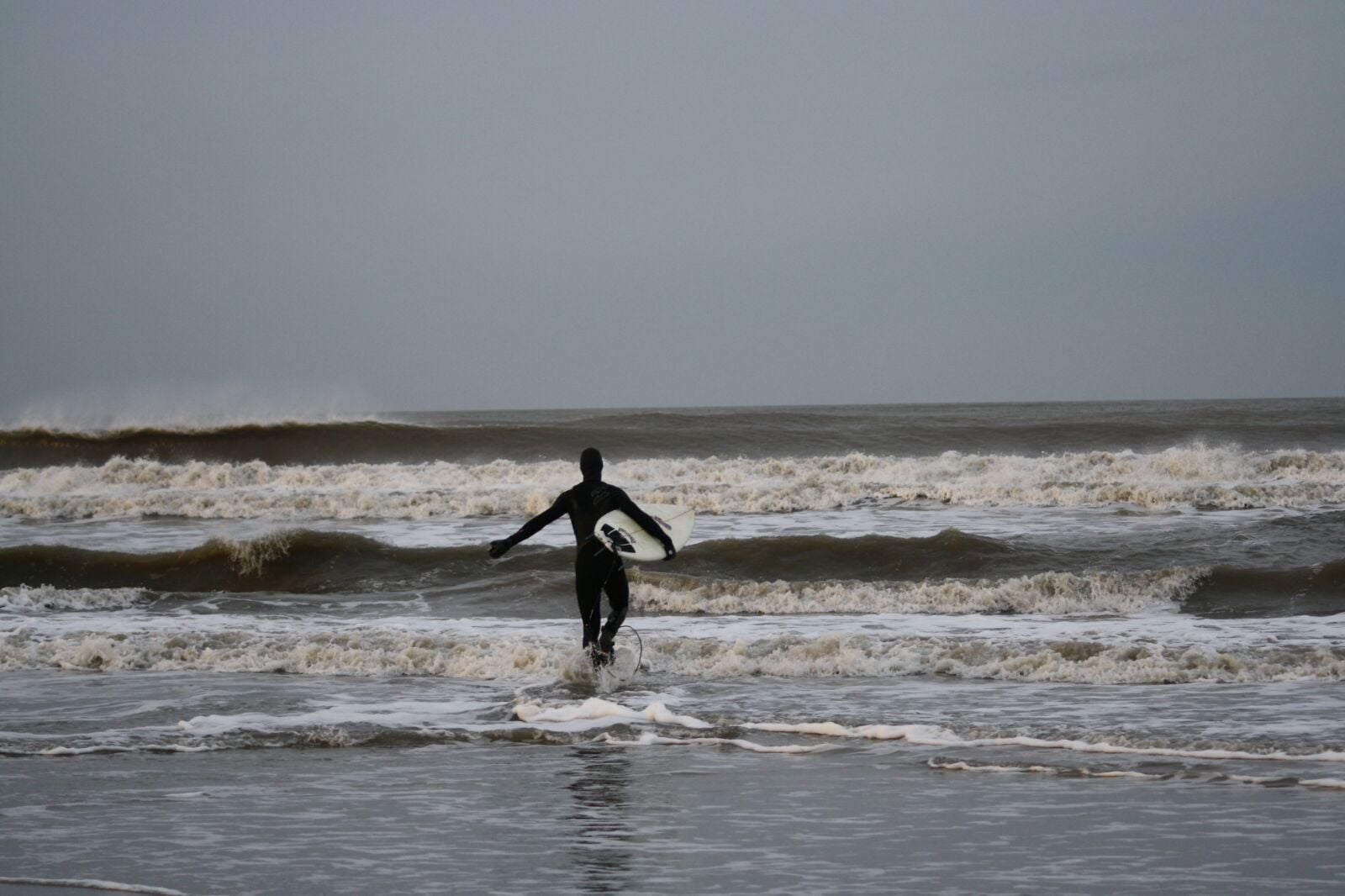 Surfing Langeoog Germany Winter Swell
