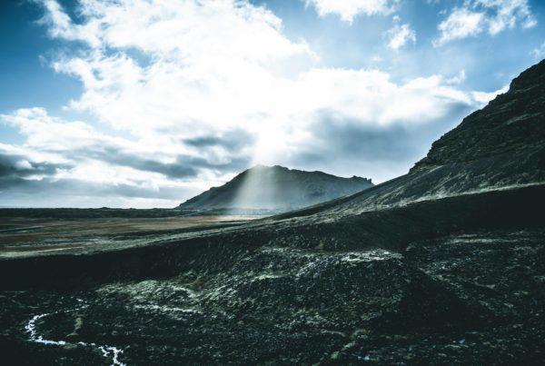 Iceland Mountains Sun Sky