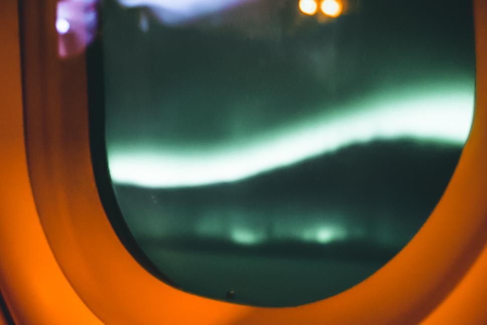 Flugzeug Polarlichter Island Reykjavik