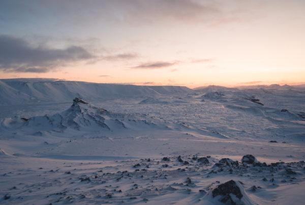 Island im Winter Tageslicht