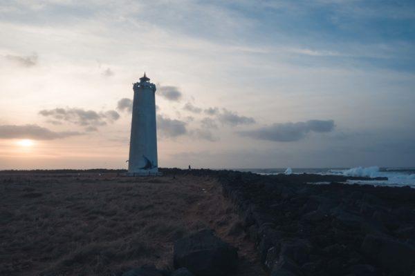 Reykjavik Grotta Landschaft Leuchtturm